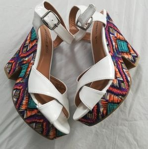 Madden Girl Boozter Colorful Stappy Heels Sandals